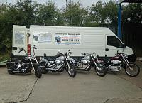 Motorcycles ready to be shipped