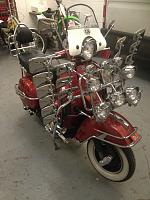 Vespa collected and delivered by motorcycle delivery UK