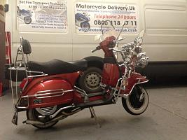 Modified scooter motorcycle delivery UK transported