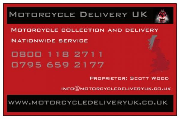 Motorcycle Delivery UK business cards front