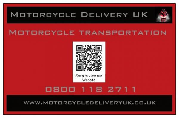 Motorcycle Delivery UK business card reverse